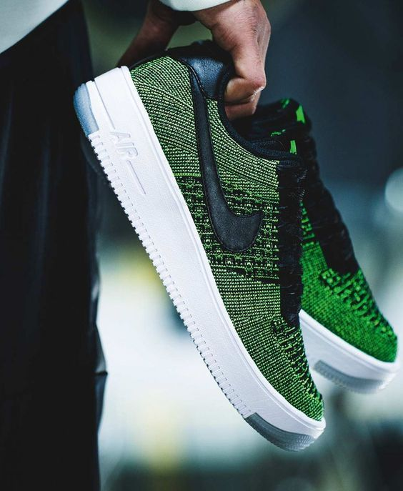 air force flyknit verde