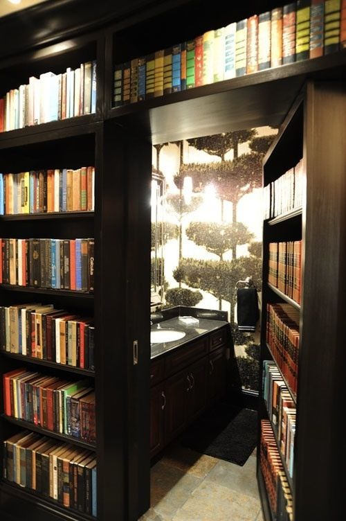 Secret Room Behind Bookshelves