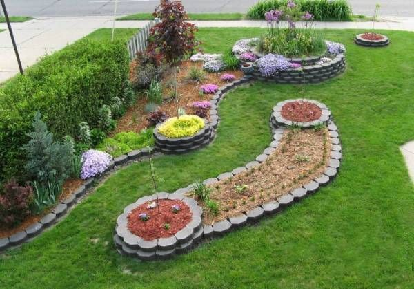 15 great ideas for beautiful garden design and yard landscaping with raised bed borders - Raised Flower Bed Design Ideas