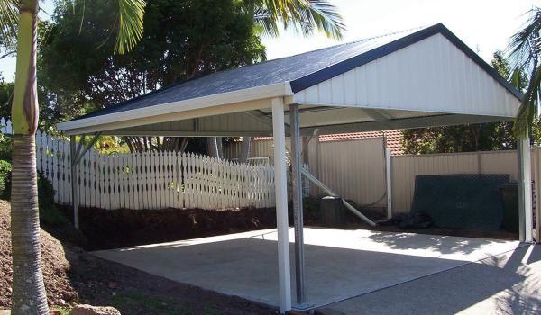 Gable roof with infill carport car parking space for Gable carport prices
