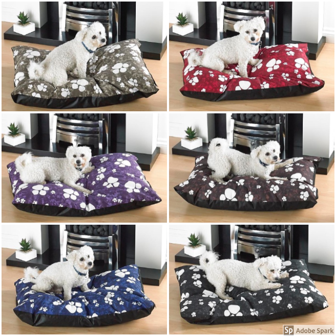 Details about Large Dog Bed With Removable Zipped Poly