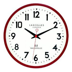 Roger Lascelles Radio Controlled Wall Clock Red Amazon Co Uk Kitchen Home Clock Wall Clock Radio Control