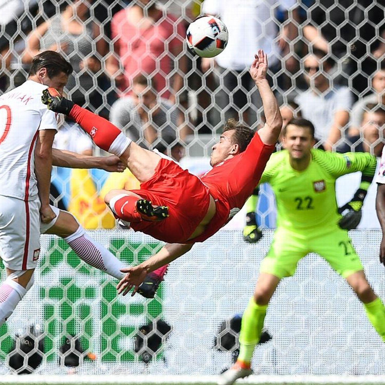 Xherdan Shaqiri Scores Stunning Goal For Switzerland At Euro 2016 Football Europe Soccer Team Uefa European Football Championship