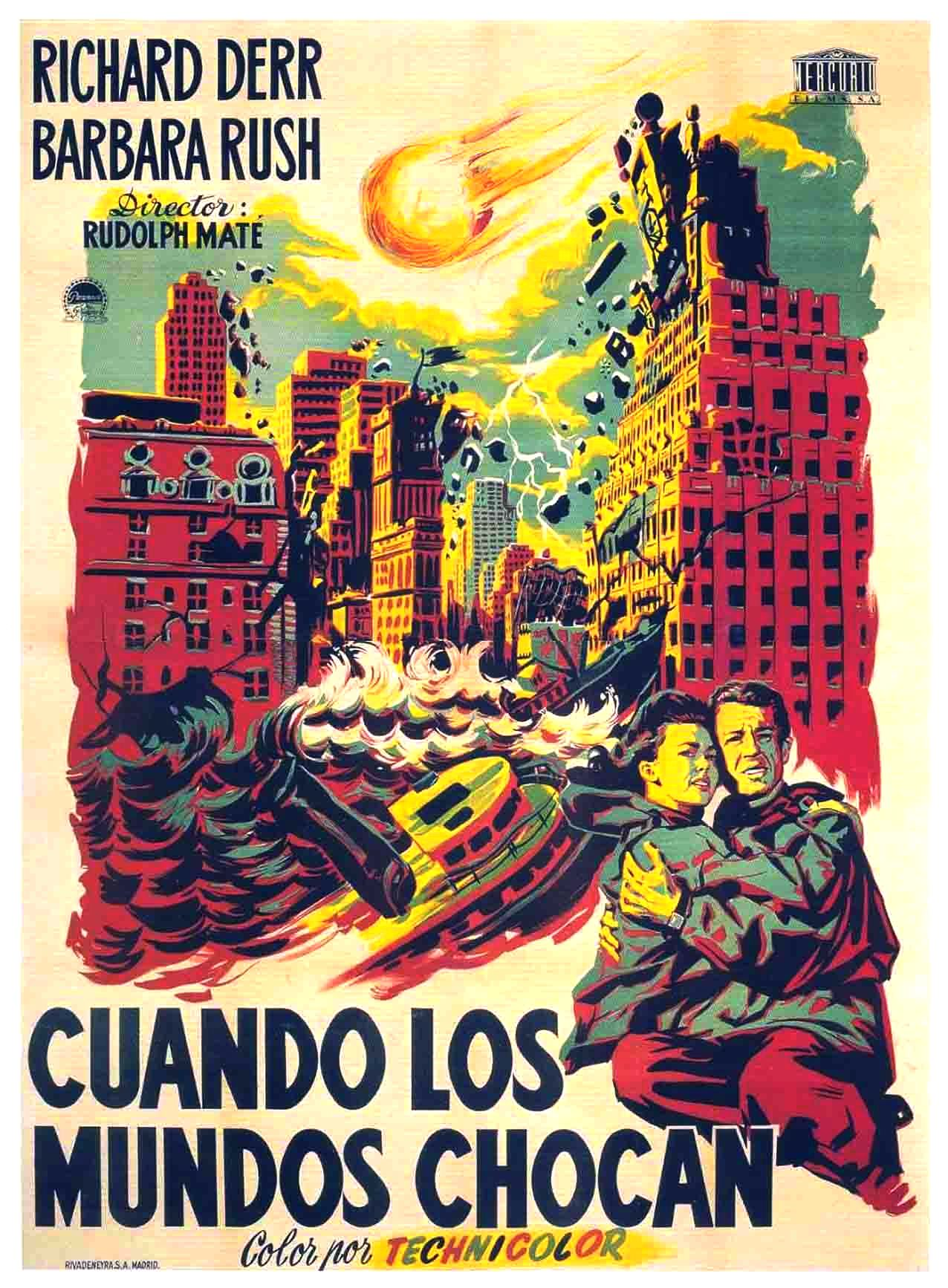 "Beautiful Spanish poster for 1951's sci-fi disaster movie ""When Worlds Collide"""