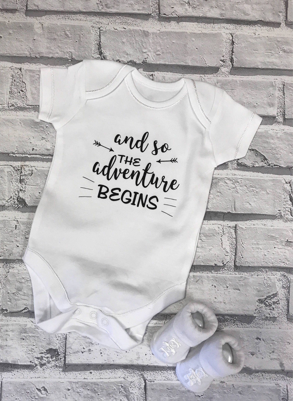 100/% Cotton Short Sleeve Vest Personalised Pregnancy Announcement Newborn
