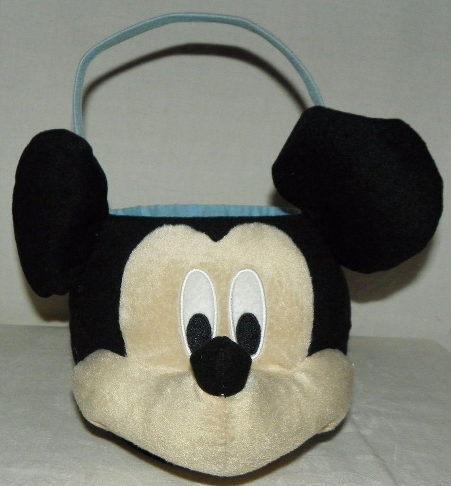 NEW Disney Mickey Mouse Halloween Trick or Treat Easter Plush Bucket Bag Basket