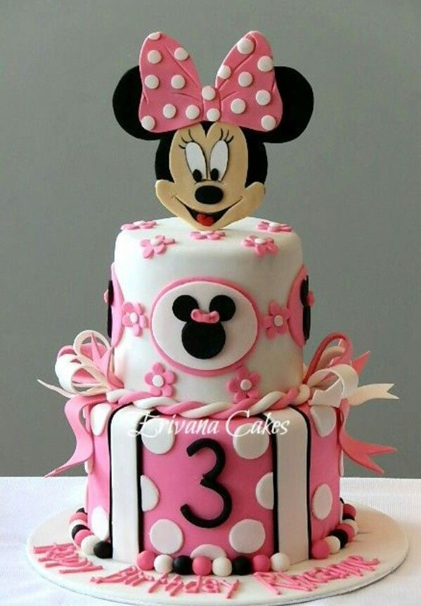 Incredible Minnie Mouse Cake With Images Minnie Mouse Birthday Cakes Funny Birthday Cards Online Alyptdamsfinfo