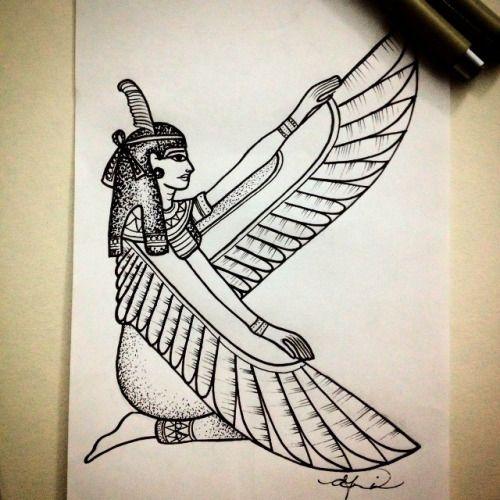 maat goddess tattoo google search tattoo pinterest goddess tattoo tattoo and body. Black Bedroom Furniture Sets. Home Design Ideas