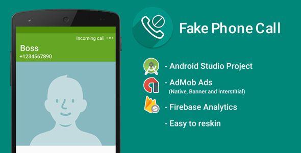 Fake Call with Admob Ads + Google Analytics + Firebase