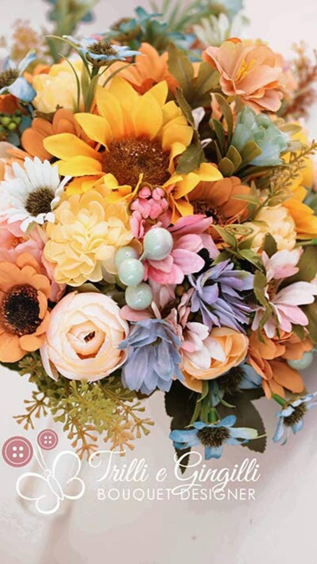 Bouquet Sposa Colorato.Multicolor Bridal Bouquet Bouquet Sposa Colorato Www