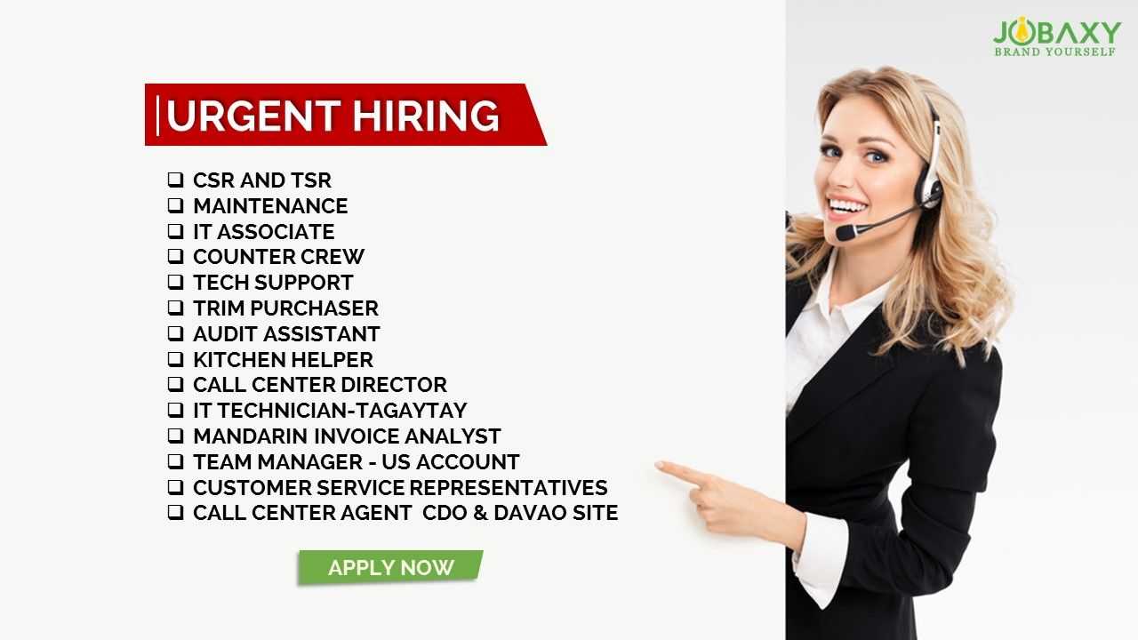 Get hired fast and easy apply csr and tsr httpbitly