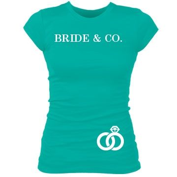 Bride & Co. Ring: Custom Junior Fit Bella Sheer Longer Length Rib T-Shirt - Bridal Party Tees