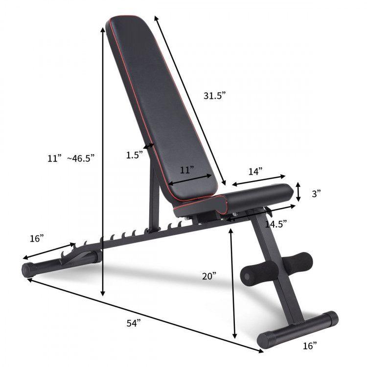 No Assembly Needed Adjustable Foldable Exercise Bench Exercise Benches Exercise Fi En 2020 Equipos De Gimnasia Equipo De Gimnasio En Casa Maquinas De Abdominales