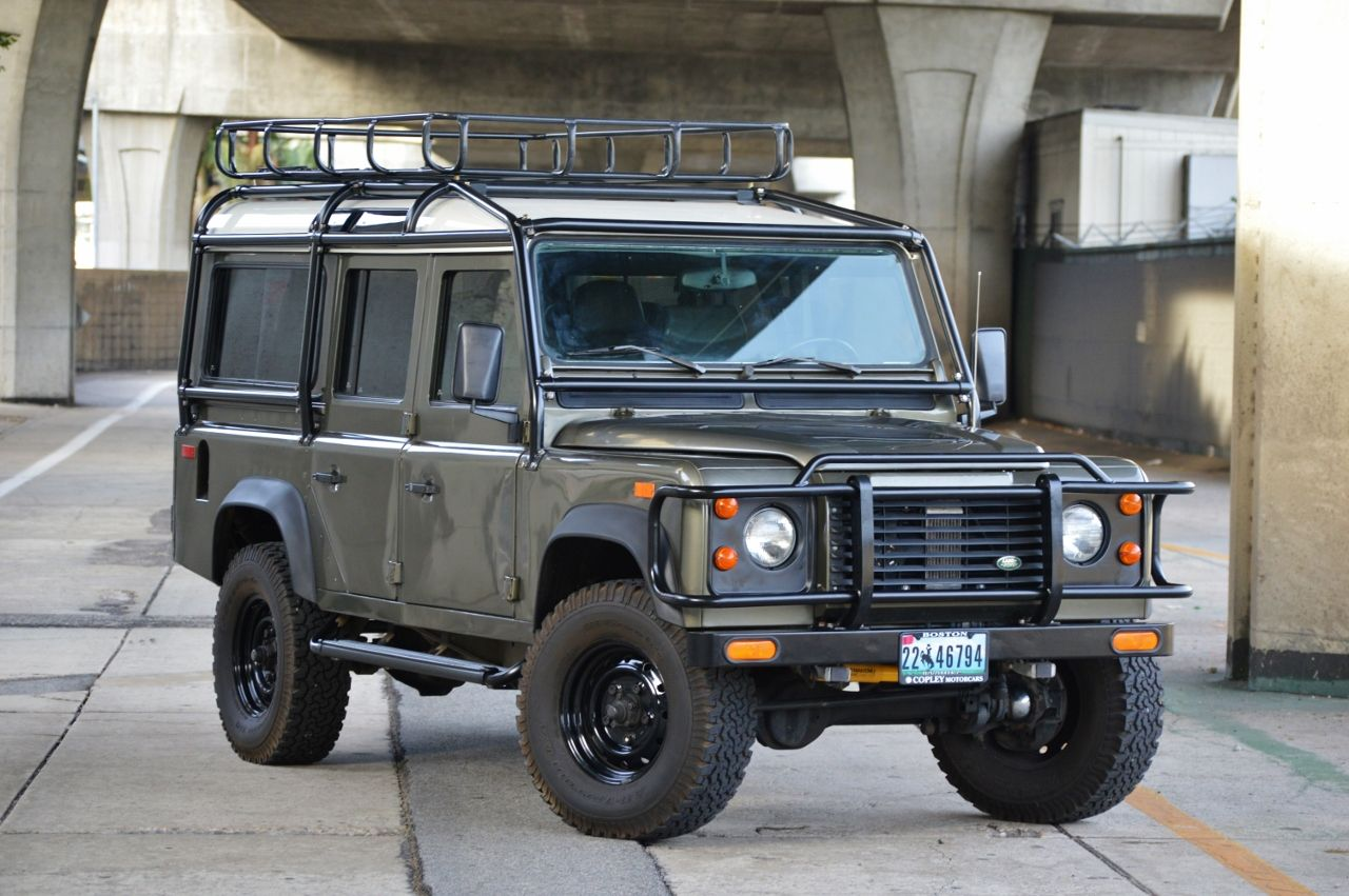 4 2l Powered 1993 Land Rover Defender 110 Nas Land Rover Defender Sports Cars Land Rover