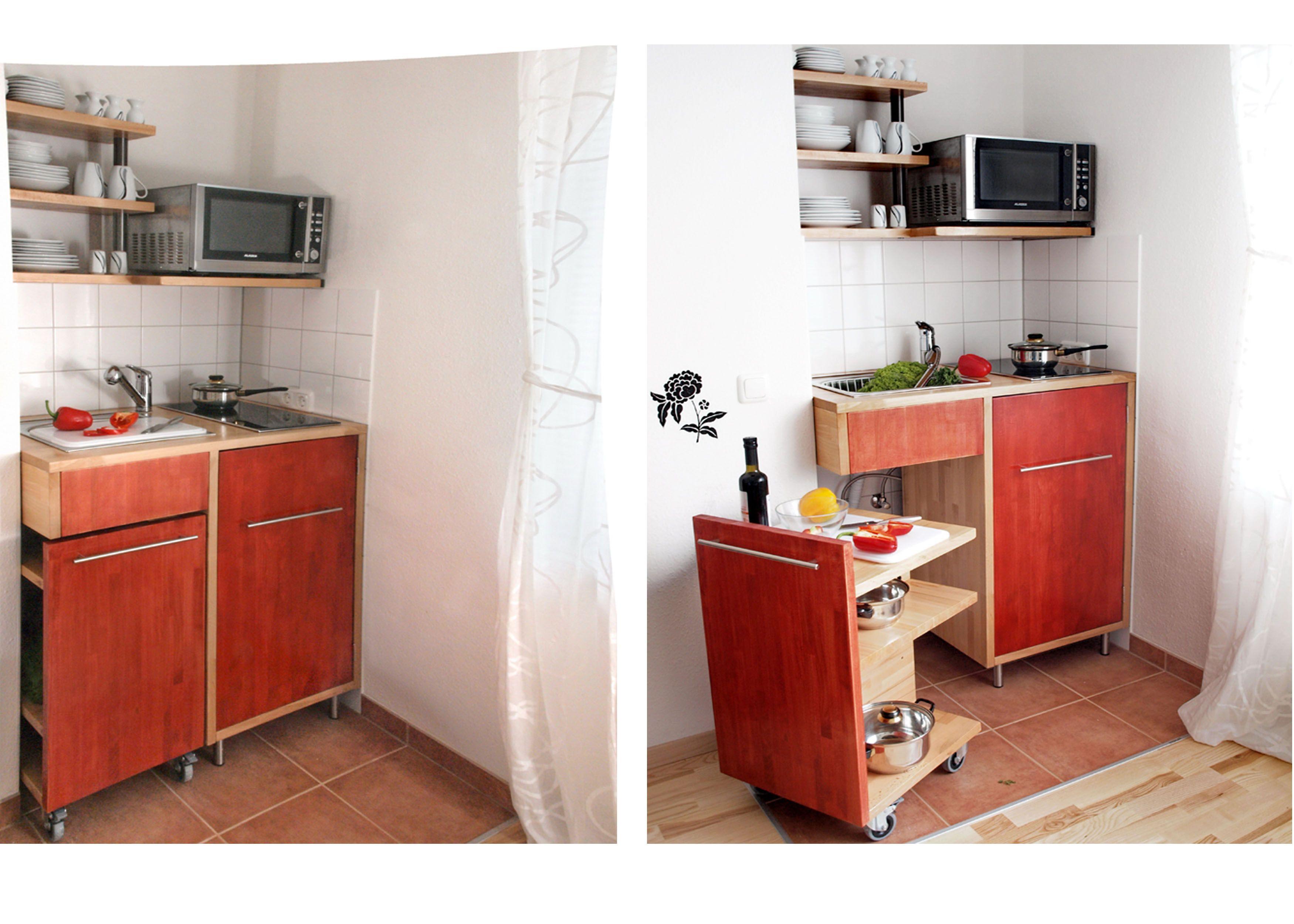DIY-Küche für kleine Räume: Die erste eigene Wohnung hat keine Küche ...