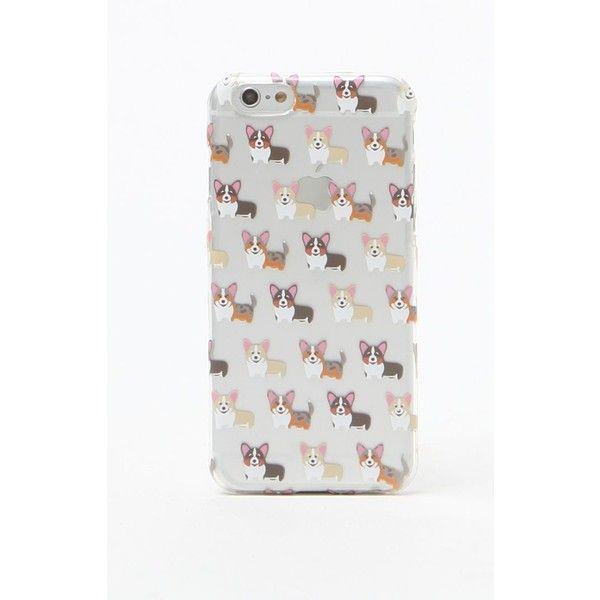 La Hearts Corgi iPhone 6+/6+s Case ($13) ❤ liked on Polyvore featuring accessories und tech accessories