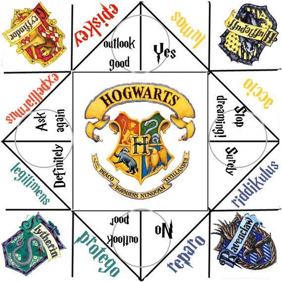 Harry Potter Fortune Teller For Divination Harry Potter Spells Harry Potter Diy Harry Potter Activities