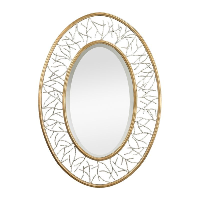 """Sterling Industries 114-98 38"""" x 27"""" Wall Mirror Gold Leaf Home Decor Mirrors Lighting"""