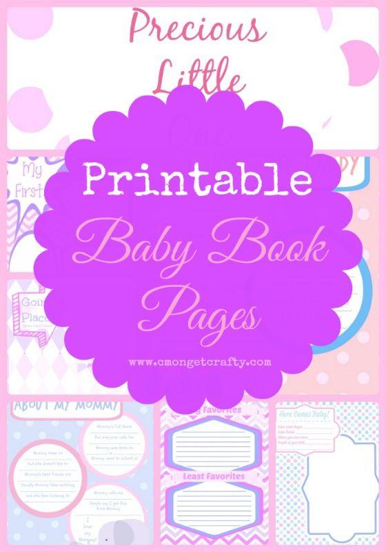 f5ce86684520d Printable Baby Book Collage - Girl http   cmongetcrafty.com printable-