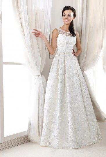 Inspired Collection Agnes Koronkowe Suknie Slubne Suknie Dla Puszystych Poznan Gdansk Gdynia Krakow S Sleeveless Wedding Dress Dresses Formal Dresses