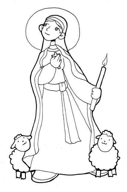 SANTORAL CATOLICO: Virgen y Santos para Colorear   VIRGENES PARA ...