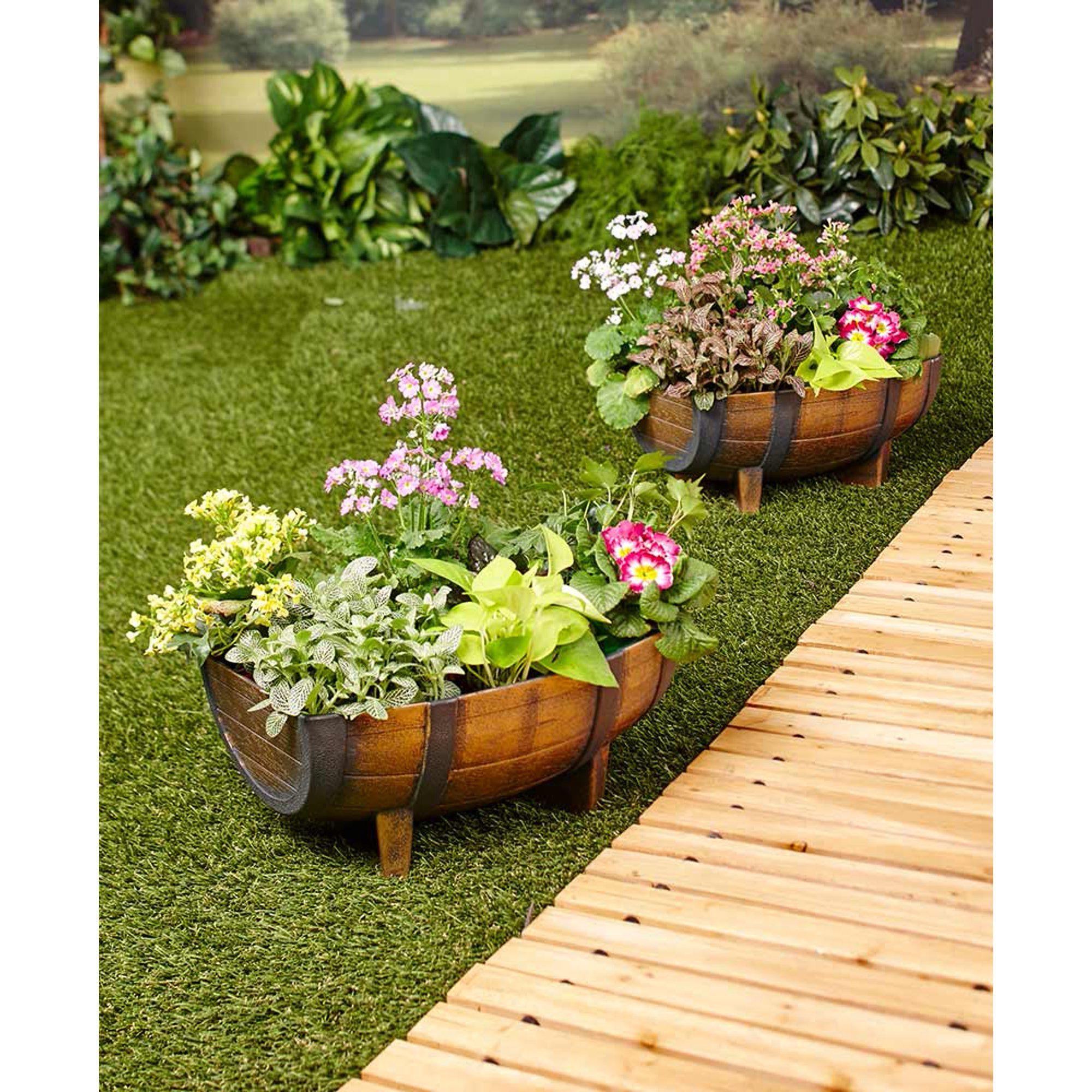 1/2 Barrel Garden Planter