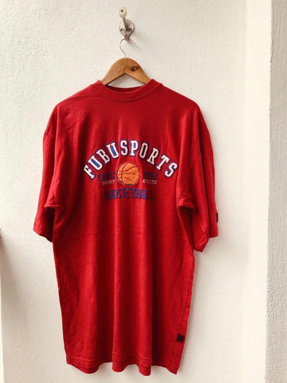 Vintage Original 90s Fubu Sport Basketball Issue Design Etsy In 2020 T Shirt Photo Movie T Shirts Hip Hop Fashion