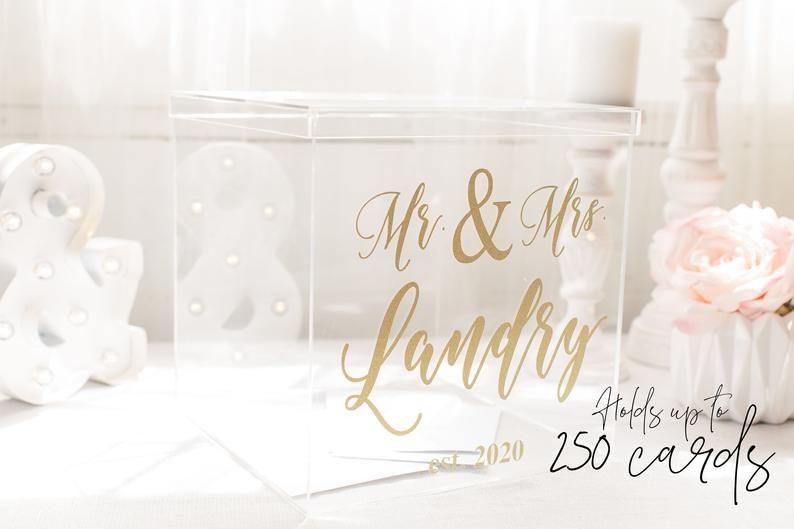 Supreme Custom Wedding Card Box Acrylic Card Box Wedding Etsy In 2020 Custom Wedding Card Box Card Box Wedding Card Box