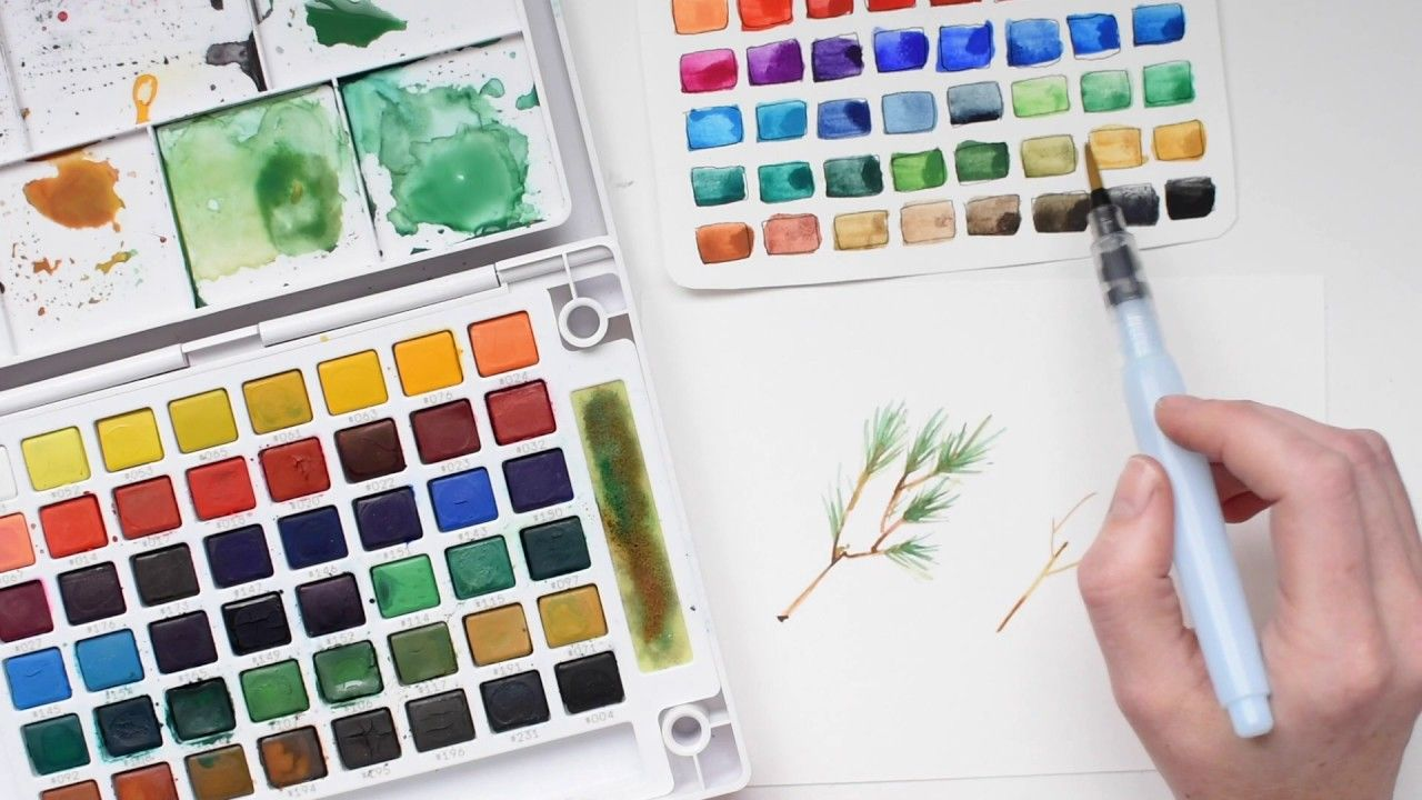 Paint A Pine Bough With Koi Water Colors Sakura Koi Watercolor