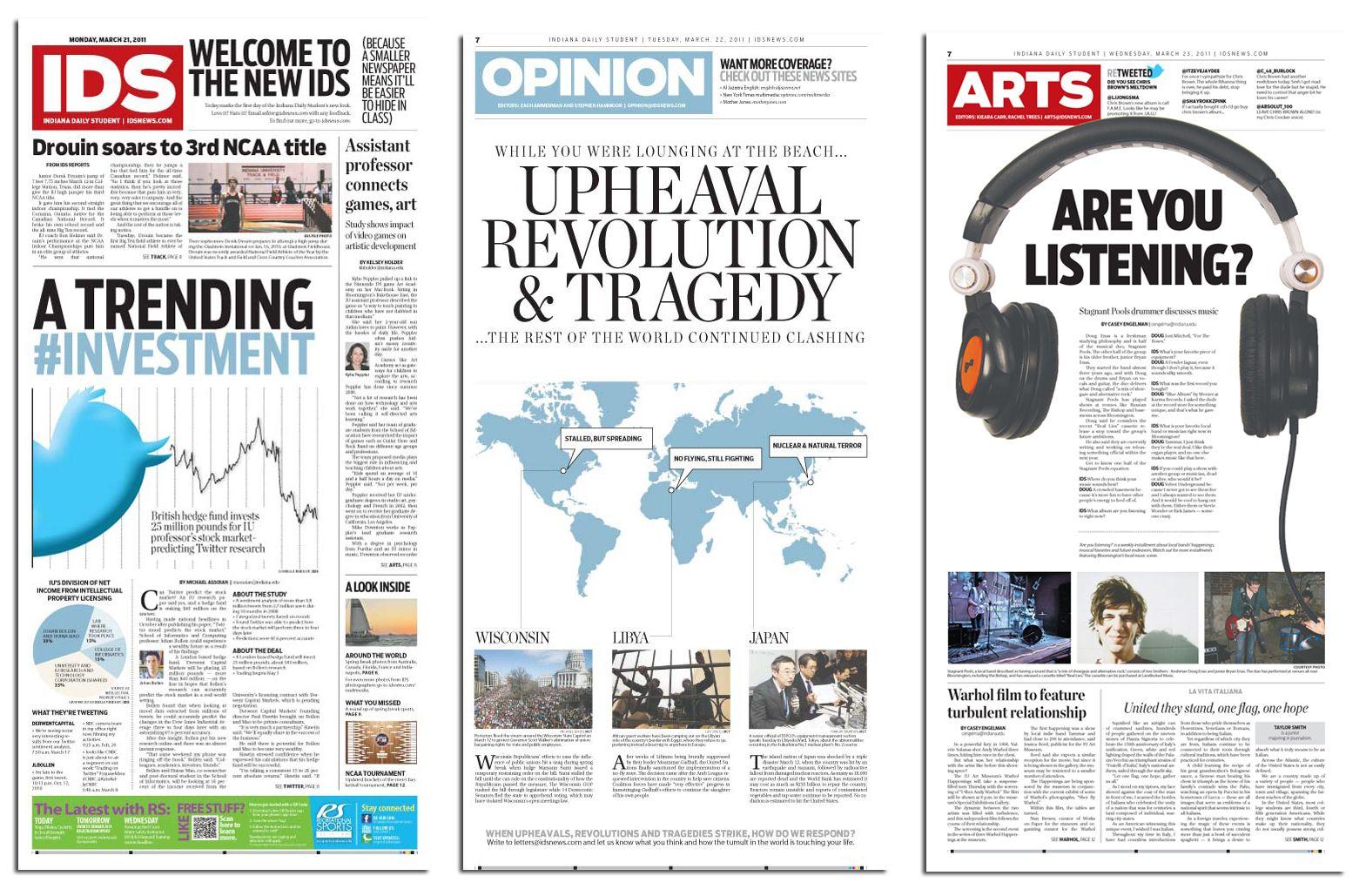 Newspaper layout ideas