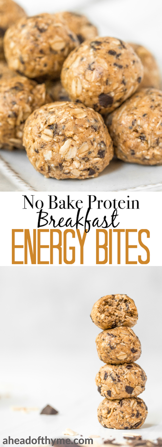 No Bake Protein-Packed Breakfast Energy Bites