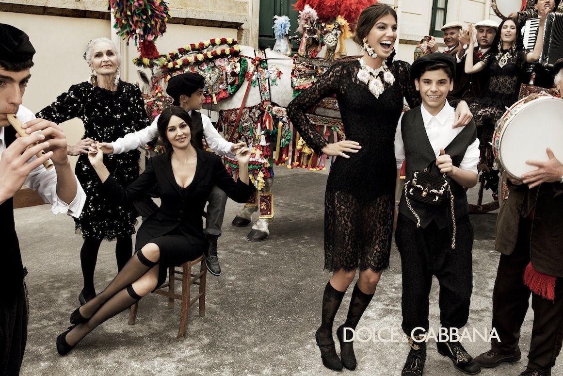 Monica Bellucci Dolce Gabbana   Ad Campaign: Dolce & Gabbana F/W 12.13: Monica Bellucci, Bianca Balti ...