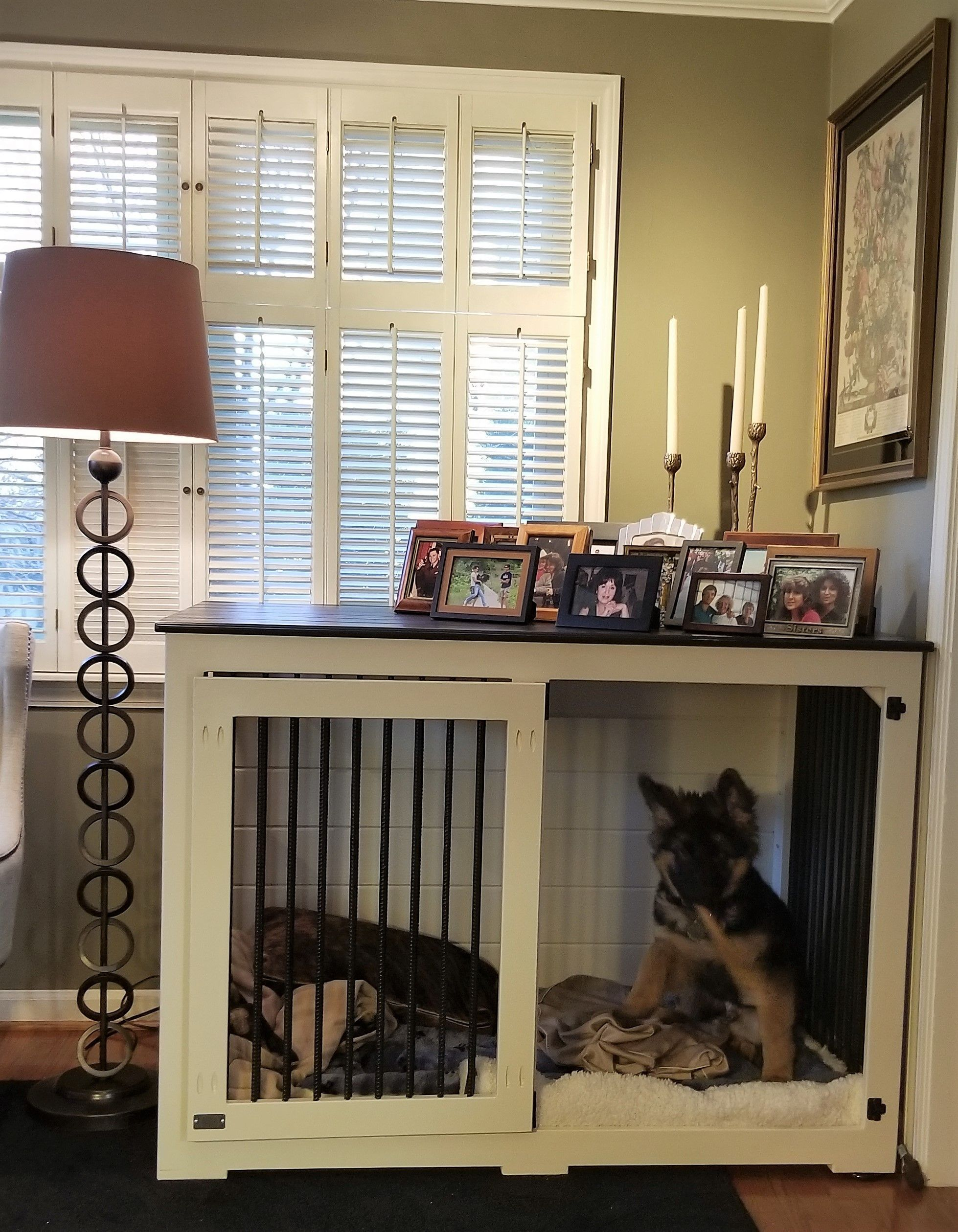 Nobody Puts Baby In The Corner But We May Put Her In Her Very Own Custom Kennel Dog House Diy Dog Kennel Dog Kennels And Crates