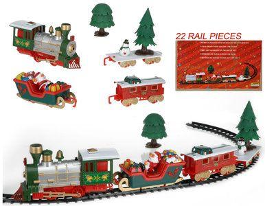 kersttrein met muziek en licht deze kersttrein met muziek en verlichting bestaat uit lokomotief