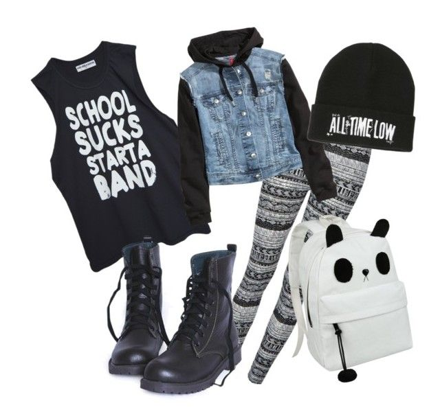 """back to school"" by that-pan-person ❤ liked on Polyvore featuring Ally Fashion, High Heels Suicide and H&M"