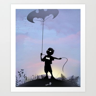 Bat Kid Art Print by Andy Fairhurst Art - $14.56