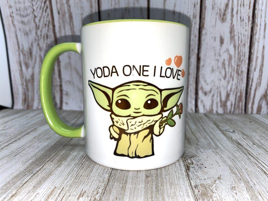 Baby YoDa One I Love Mugs   iSkinWraps