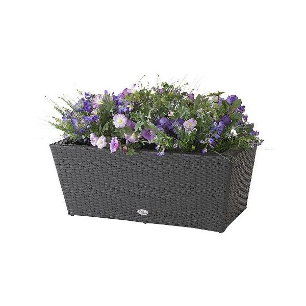 Planting Pots Vista Planter Resin Wicker Rectangle 99 Liked On Polyvore Featuring Home Outdoors Outdoor Decor Brown Rectangular