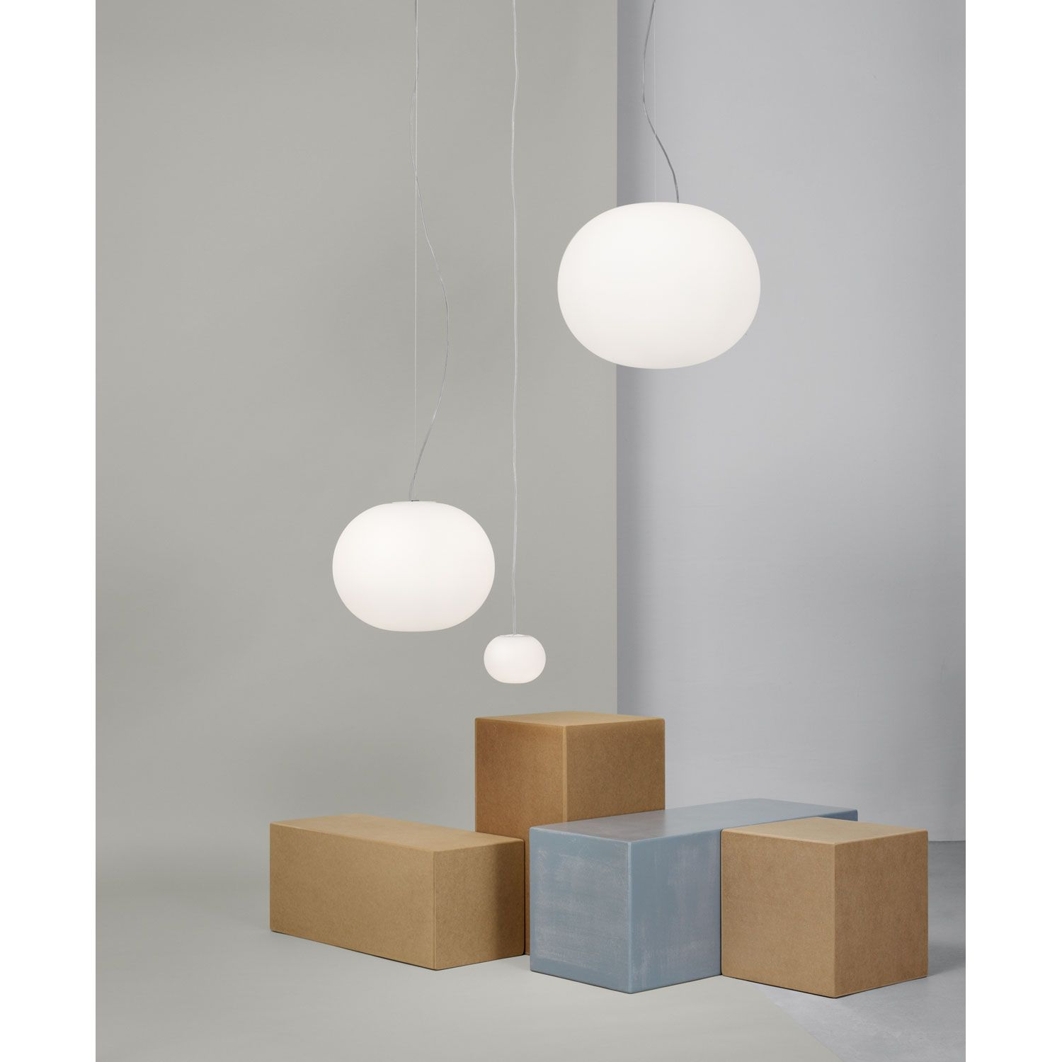Discover The Flos Suspended Lamp Model Mini Glo Ball S