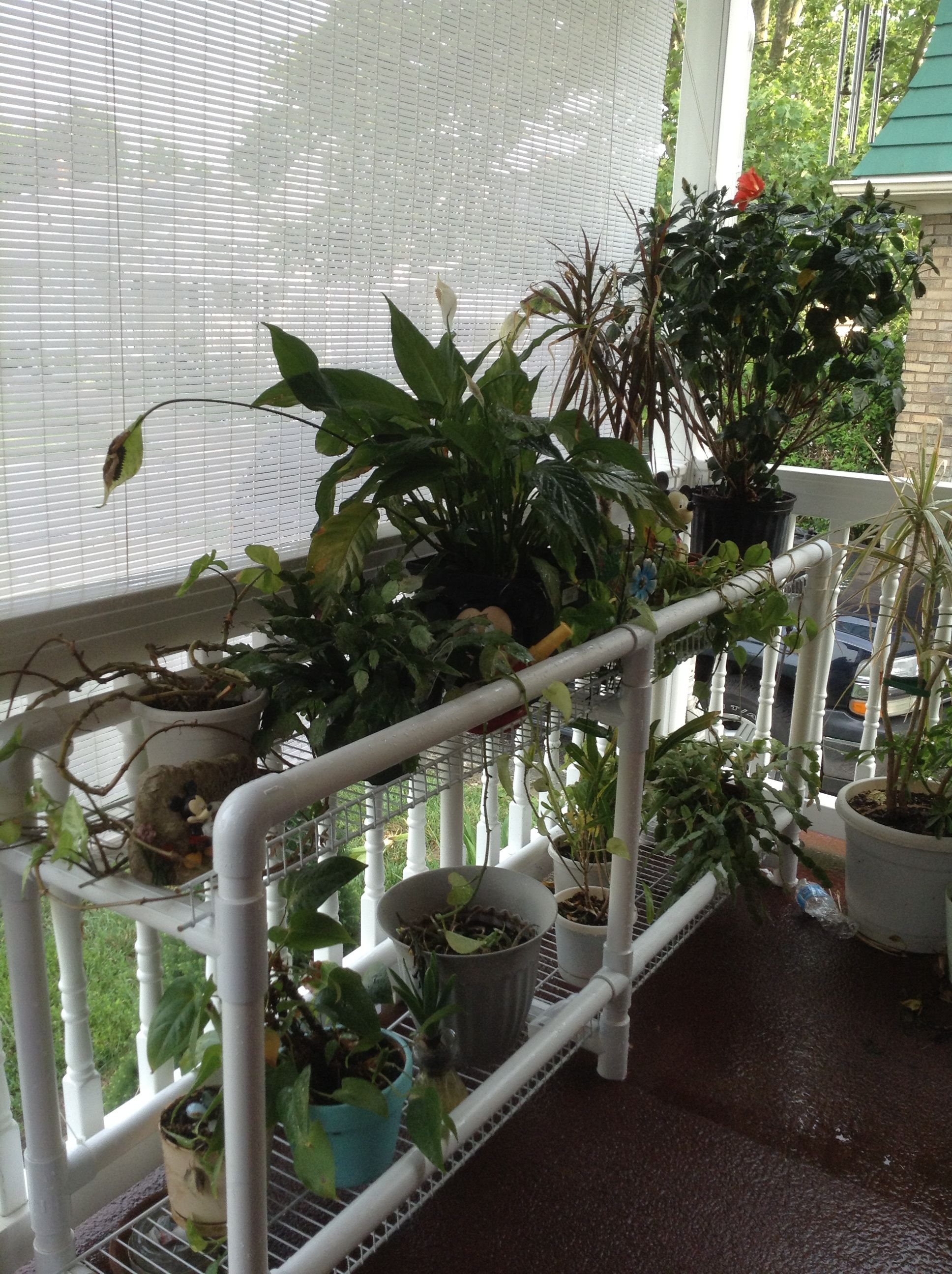 Pvc Plant Stand Gardens Diy Plant Stand Diy