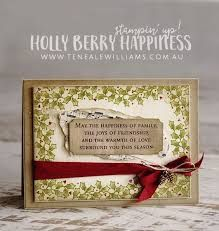 Image result for Stampin up Holly Berry Happiness Cards
