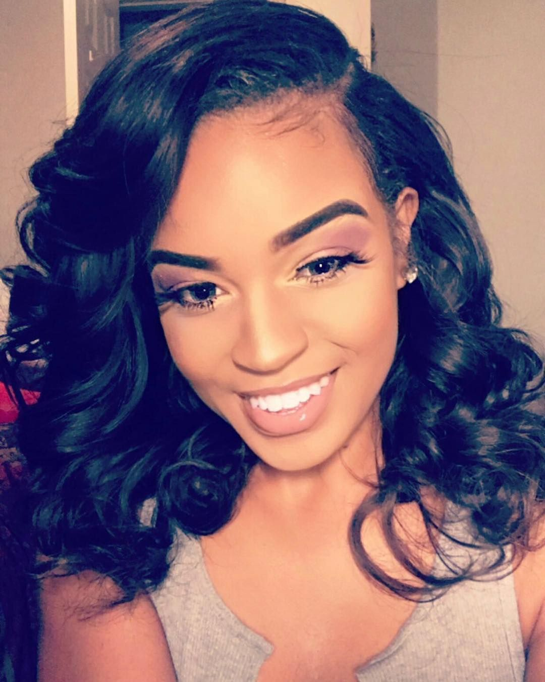 Pony tail weave   Hairstyles   Sew in hair extensions ...  Hair Nets For Sew Ins