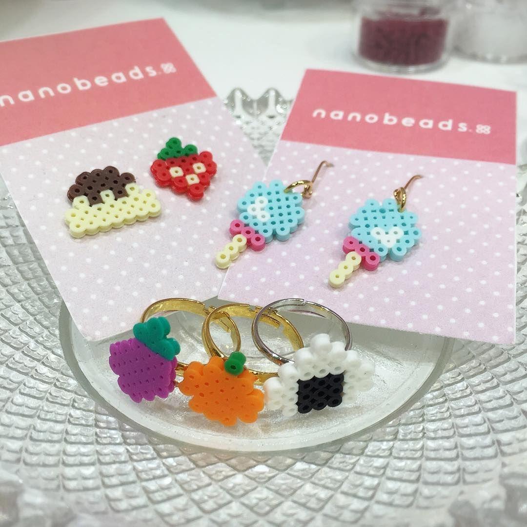 nanobeads でオリジナルアクセサリー☺ ナノビーズ アイロンビーズ handmade beads