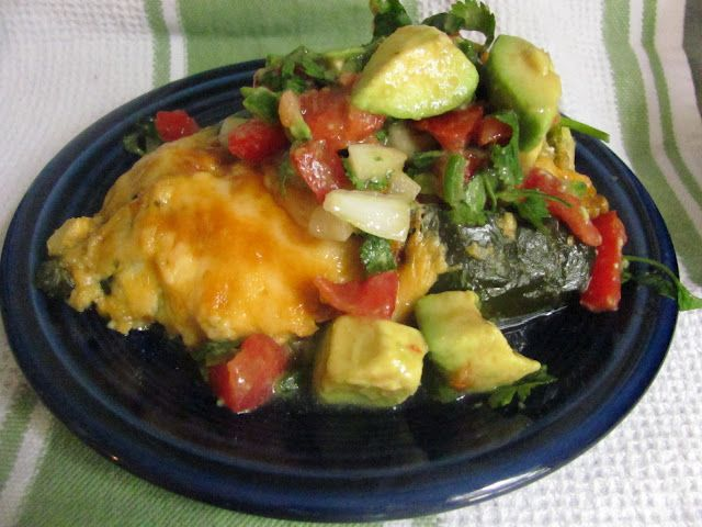 Poblano Chicken Enchilada...low-carb!   # Pin++ for Pinterest #