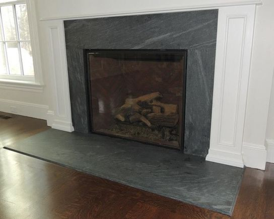 Fireplace surrounds and Black granite