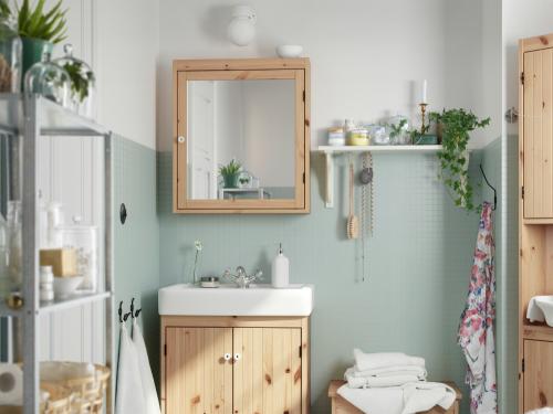 Ikea bagno ~ Specchio e mobile bagno legno ikea casa bagno pinterest bath