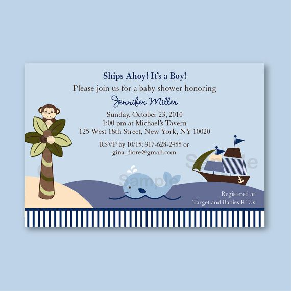 Ahoy Mate Boys Nautical Baby Shower by LittlePrintsParties on Etsy, $20.00--ahhh perfect! This is our bedding theme!!