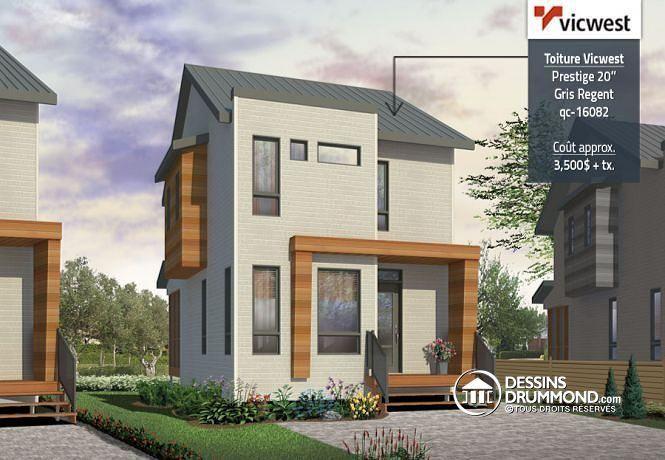 Maison avec aménagement intérieur maximisé pour petit terrain micro maison moderne très abordable de 3 chambres avec espace ouvert et abri moustiquaire