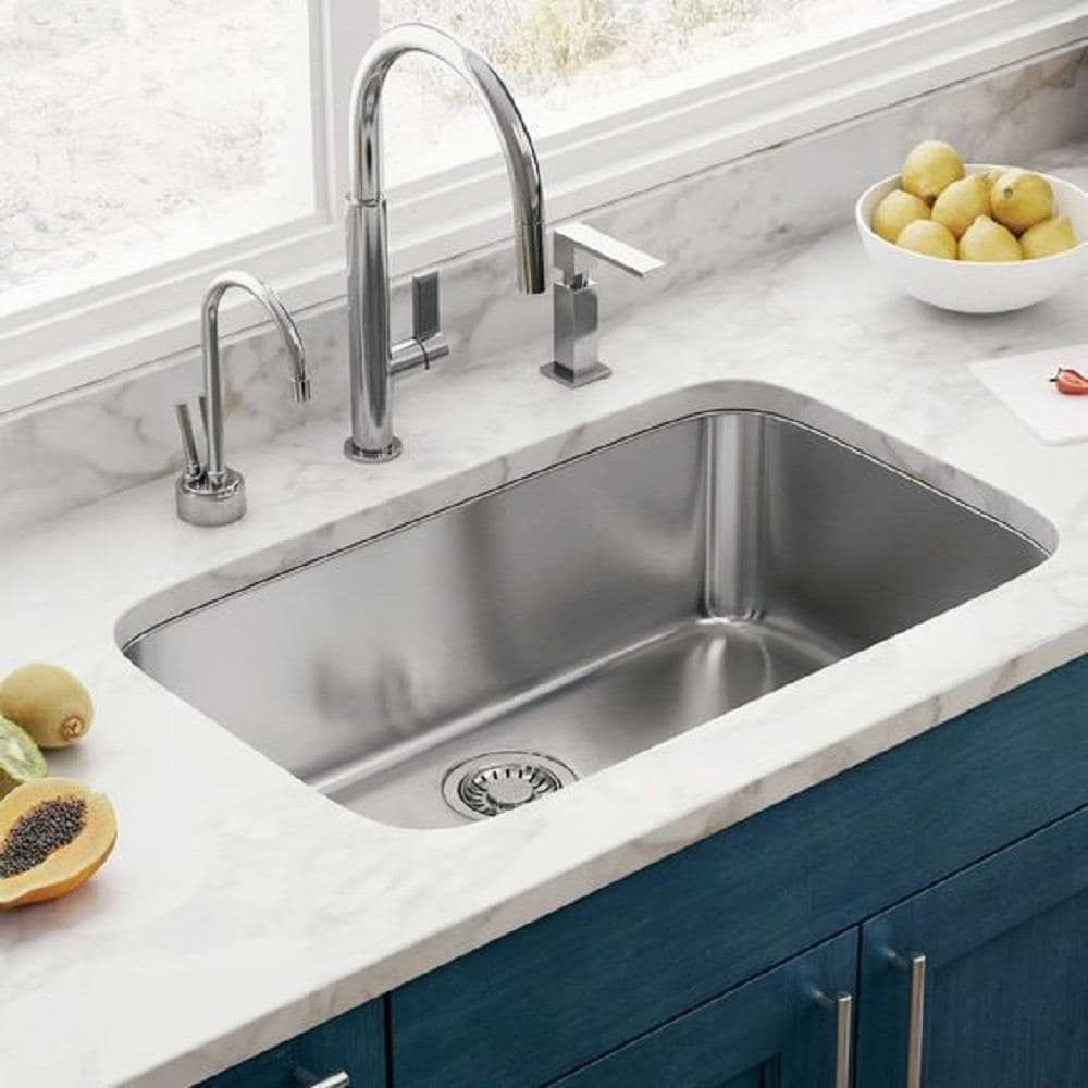 Symtek Undermount 31 In X 17 5 In Hairline Stainless Steel Single Bowl Kitchen Sink Lowes Com In 2021 Undermount Kitchen Sinks Modern Kitchen Sinks Kitchen Sink Remodel Stainless steel undermount kitchen sink
