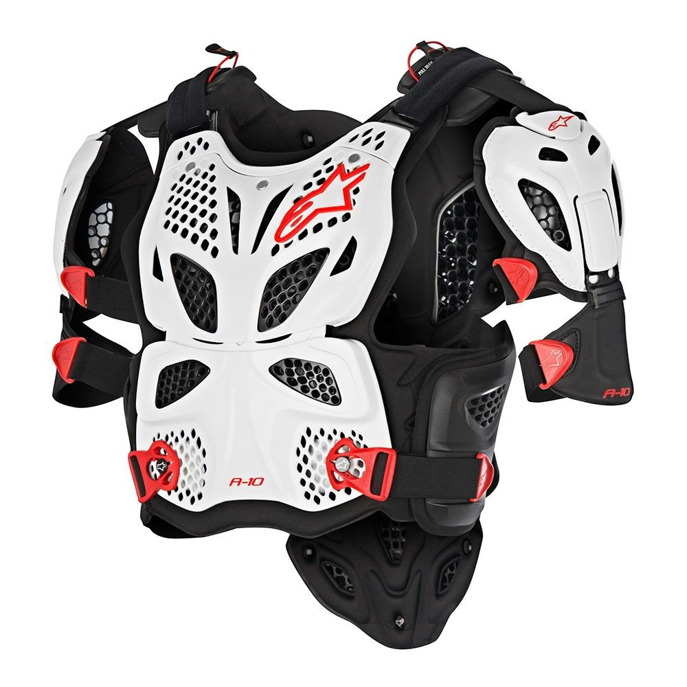 A10 Full Chest Protector Body armor, Black, Motorcycle